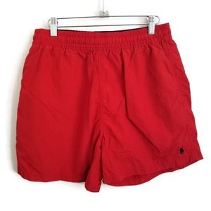 Polo Swim Trunks with Mesh Lining Sz Med